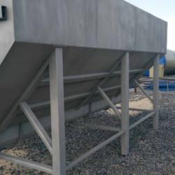 Пескоструйная обработка бункера из нержавеющей стали