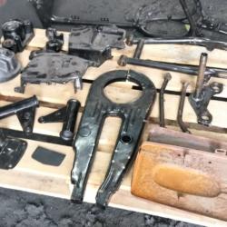 Реставрация рамы и частей навесного оборудования мотоцикла Cezet (CZ350)